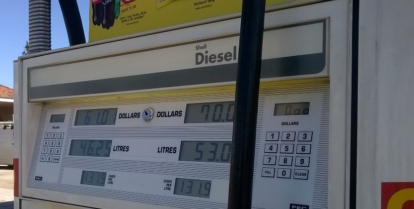 Historical ULP and diesel pump prices in Australia