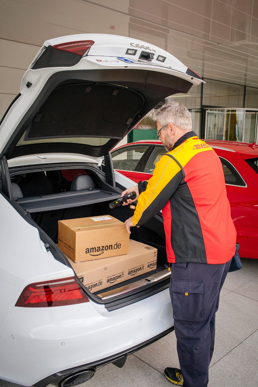 Imagine using your car boot as a letterbox - Audi is doing it!
