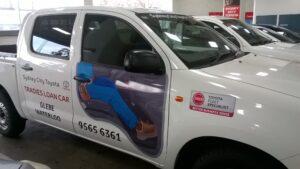 Fleet branding ute Sydney City Toyota