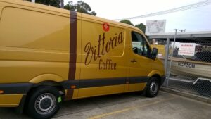 Vittoria Coffee orders vehicles from the factory in a colour to match their brand