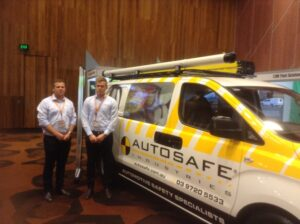 First time exhibitors Sam and Max from Autosafe Industries