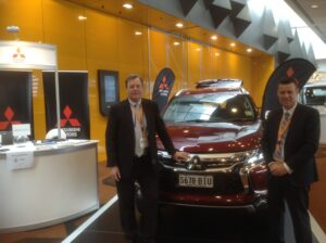 Craig and Tony from Mitsubishi with the Outlander PHEV