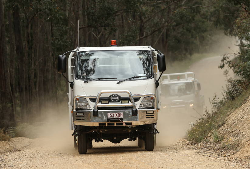 Catch the HINO 300 Series 4x4 at AFAC 2018