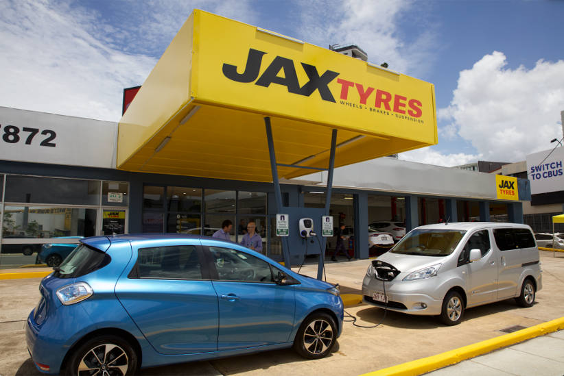 JAX Tyres rolls out free EV charging network
