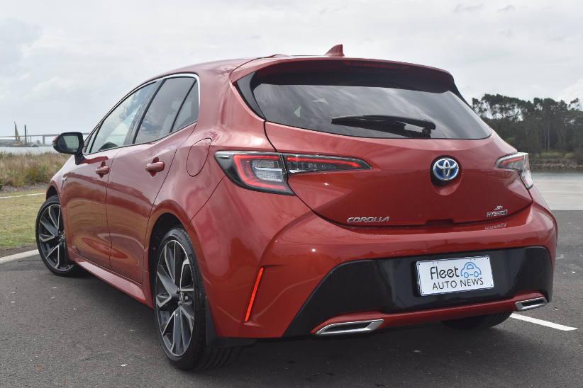 Toyota hybrid Corolla ZR Rear