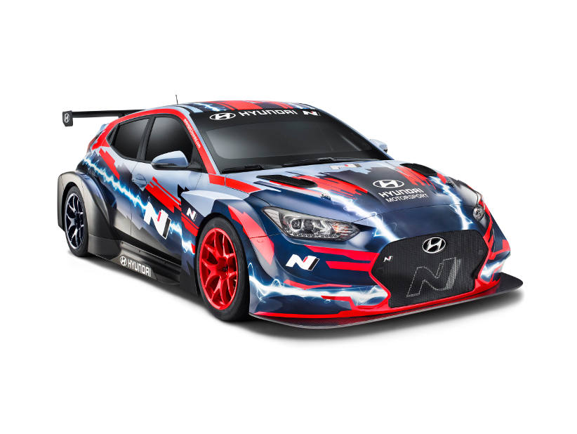 Hyundai launches Veloster electric race car