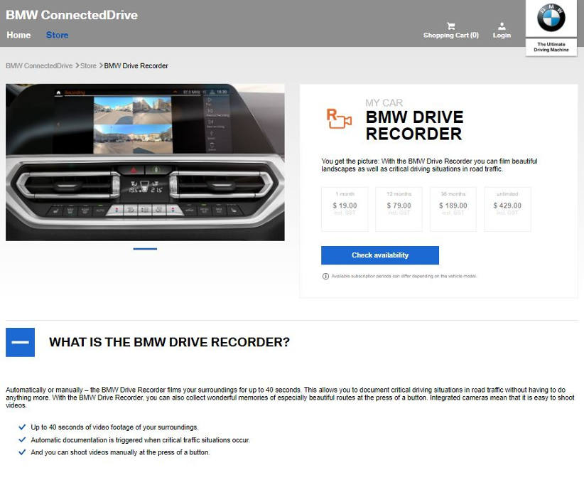 BMW vehicle updates now available via a download