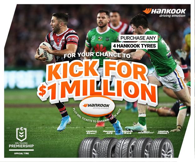 Hankook Kick for $1 million