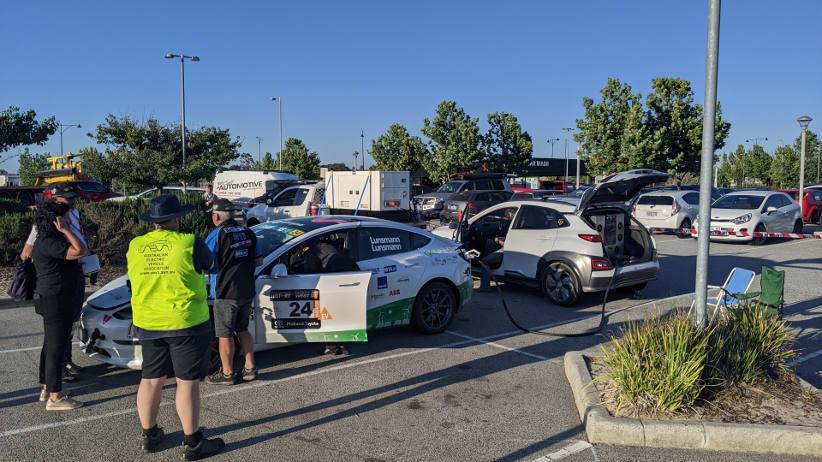 Tesla has a win in the Targa West rally