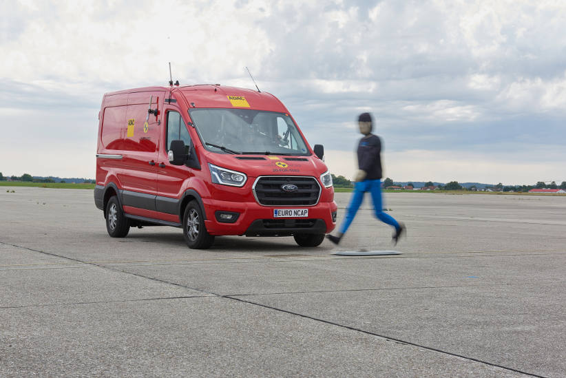 Ford Transit being tested by ANCAP for AEB with pedestrians
