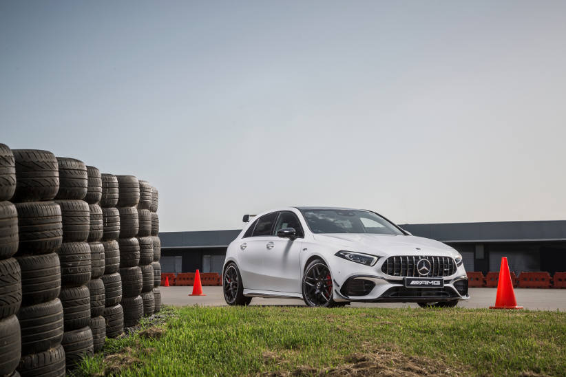 Mercedes-AMG A 45 S and CLA 45 S models with track-focused tyre option