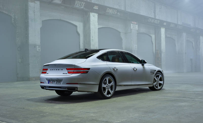 New luxury athletic large sedan from Genesis