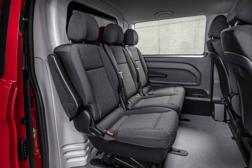 Crew Cab Rear Seating in the facelift Vito van