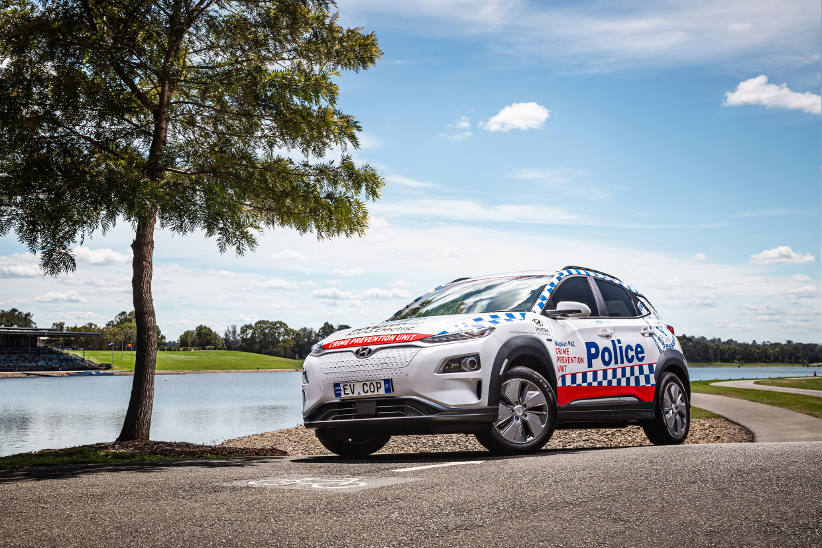 Hyundai five-O gets charged up with Kona