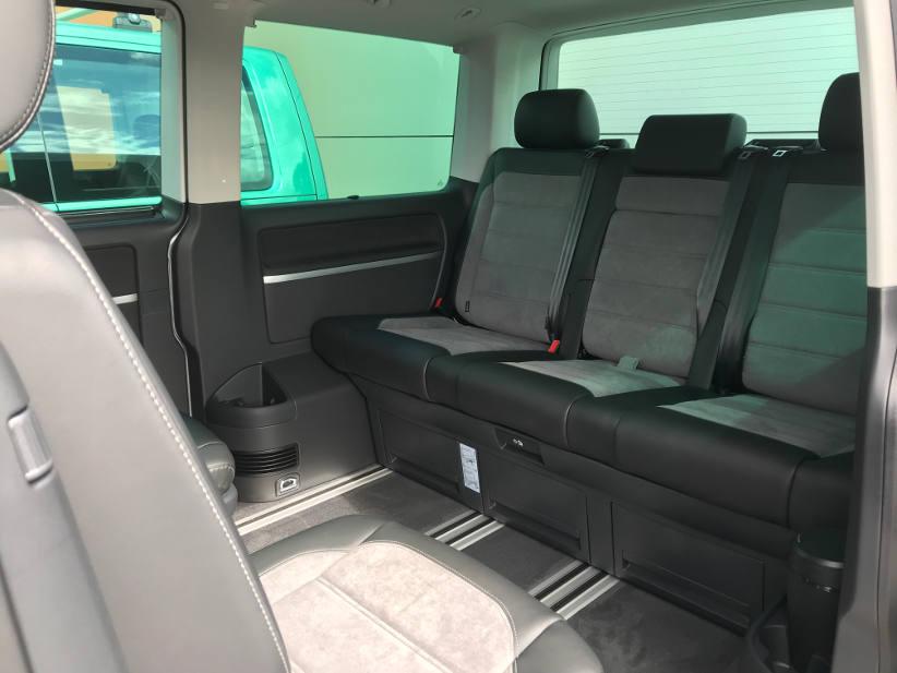 rear seats in 2021 VW multivan