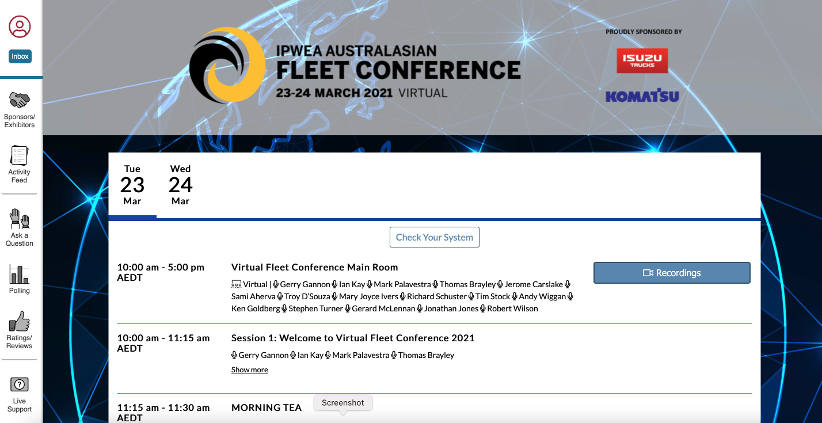IPWEA 2021 virtual Fleet Conference - first day review