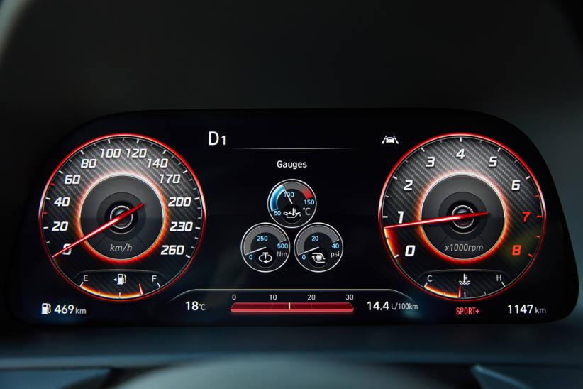 Sonata-N-Line-digitial-instrument-cluster-odometer
