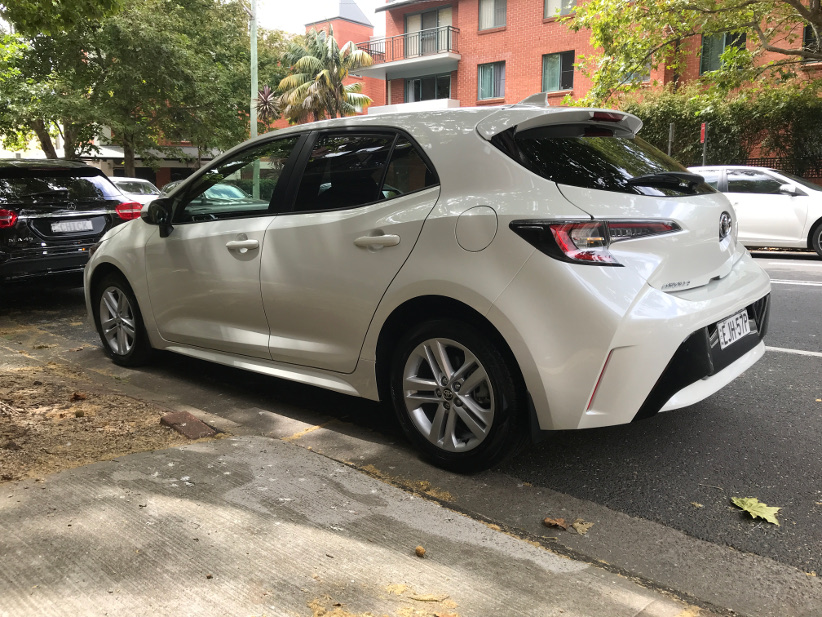 Toyota Corolla Ascent Sport in the city rear