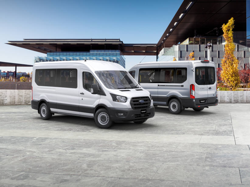 Ford adds 12 seater bus to Transit range